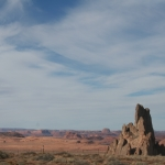 Church Rock and Monument Valley